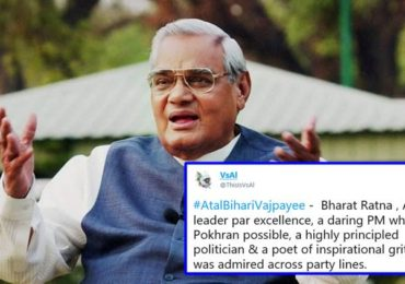 Atal Bihari Vajpayee dies at 93; Netizens from India and Pakistan mourn his death