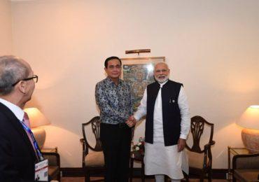 PM Narendra Modi meets Thailand Prime Minister Prayut Chan-o-cha