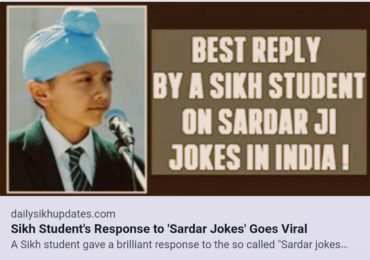 SIKH STUDENT'S RESPONSE TO 'SARDAR JOKES' GOES VIRAL