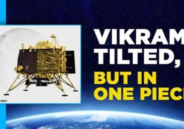 ISRO Reveals 'Vikram In A Single Piece, In A Tilted Position' On Moon